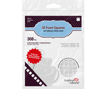 Scrapbook Adhesives 3D Foam Squares White Small (308pcs) (01612)