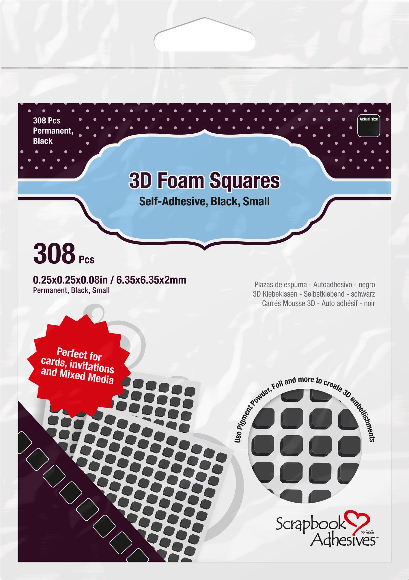 Foam Squares Black Small 308pcs