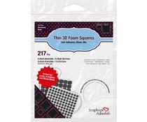 Scrapbook Adhesives Thin 3D Foam Squares Black Mix (217pcs) (01617)