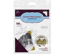 Scrapbook Adhesives Creative Photo Corners Gold (108pcs) (01625)