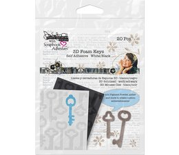 Scrapbook Adhesives 3D Foam Keys (20pcs) (03000)