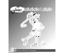 By Lene Funny Golf Player 1 Clear Stamp (BLS1139)