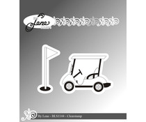 By Lene Golf Cart Clear Stamps (BLS1144)