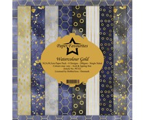 Paper Favourites Watercolour Gold 12x12 Inch Paper Pack (PF332)