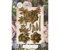 Re-Design with Prima Wilderness Rose 5x8 Inch Moulds (647506)