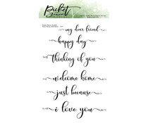 Picket Fence Studios More Fancy Sentiments Clear Stamps (S-171)