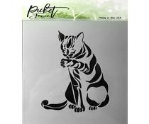 Picket Fence Studios Cat Stencil (SC-163)