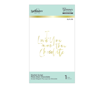 Spellbinders Stylish Script More than Chocolate Glimmer Hot Foil Plate (GLP-216)