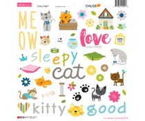 Bella BLVD Chloe 12x12 Inch Chipboard Icons (BB2274)