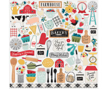 Echo Park Farmhouse Kitchen 12x12 Inch Element Sticker (FK216014)