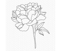 My Favorite Things Peony Perfection Cling Rubber Stamp (BG-125)