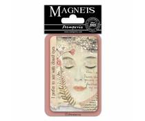 Stamperia Closed Eyes 8x5.5cm Magnet (EMAG022)