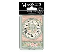 Stamperia Clock 8x5.5cm Magnet (EMAG025)