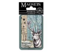 Stamperia Deer 8x5.5cm Magnet (EMAG027)