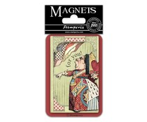 Stamperia King of Hearts 8x5.5cm Magnet (EMAG031)