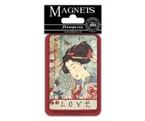 Stamperia Geisha 8x5.5cm Magnet (EMAG035)