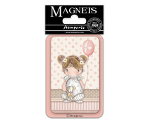 Stamperia Baby Girl Balloon 8x5.5cm Magnet (EMAG040)