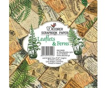 Decorer Leaflets & Ferns 8x8 Inch Paper Pack (DECOR-B31-429)