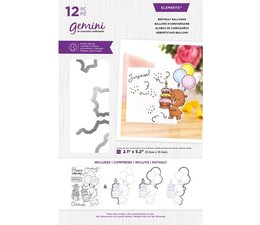 Gemini Birthday Balloons Stamp & Die (GEM-STD-CHRBAL)
