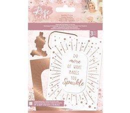 Crafter's Companion Rose Gold Foil Stamp 'N' Cut Die Sparkle Frame (S-RG-FSC-SPFR)