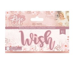 Crafter's Companion Rose Gold Wish Die (S-RG-MD-WISH)