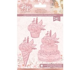 Crafter's Companion Rose Gold Stamp and Die Birthday Wishes (S-RG-STD-BWISH)