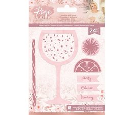 Crafter's Companion Rose Gold Stamp and Die Sparkle and Shine (S-RG-STD-SPARK)