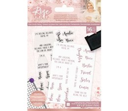 Crafter's Companion Rose Gold Interchangeable Sentiments Clear Stamps (S-RG-ST-INTER)