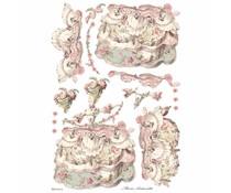 Stamperia Rice Paper A3 Lady Pink (DFSA3074)