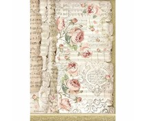 Stamperia Rice Paper A4 Roses and Music (6pcs) DFSA4486)