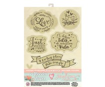 Stamperia Wooden Shapes A6 Love Story (KLSPA613)