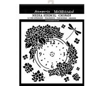 Stamperia Thick Stencil 18x18cm Clock (KSTDQ41)
