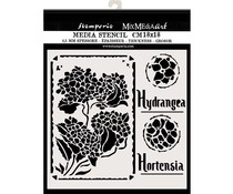 Stamperia Thick Stencil 18x18cm Hortensia Frames (KSTDQ44)