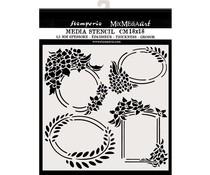 Stamperia Thick Stencil 18x18cm Labels (KSTDQ45)