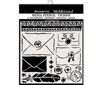 Stamperia Thick Stencil 18x18cm Letters (KSTDQ57)