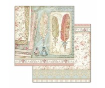 Stamperia Princess Feathers 12x12 Inch Paper Sheets (10pcs) (SBB712)