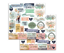 Stamperia Love Story Quotes 12x12 Inch Paper Sheets (10pcs) (SBB723)