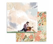 Stamperia Love Story Guitar 12x12 Inch Paper Sheets (10pcs) (SBB728)