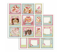Stamperia Sweety Cakes 12x12 Inch Paper Sheets (10pcs) (SBB735)