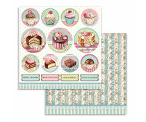Stamperia Sweety Mini Cake Rounds 12x12 Inch Paper Sheets (10pcs) (SBB737)