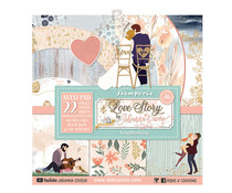 Stamperia Love Story 12x12 Inch Paper Pack (SBBXLB07)