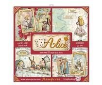 Stamperia Alice 12x12 Inch Paper Pack (SBBXLB08G)