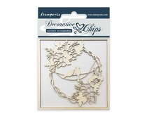 Stamperia Decorative Chips Garland with Birds (SCB03)