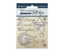 Stamperia Decorative Chips Hope (SCB04)