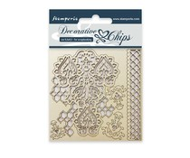 Stamperia Decorative Chips Winter Tales (SCB09)