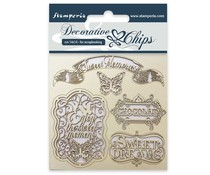 Stamperia Decorative Chips Sweet Memories (SCB17)