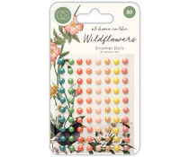 Craft Consortium At Home in the Wildflowers Adhesive Enamel Dots (CCADOT007)