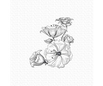 My Favorite Things Floral Fantasy Rubber Stamp (BG-118)