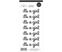 Doodlebug Design Beetle Black It's a Girl Doodles Stickers (12 pc) (3151)