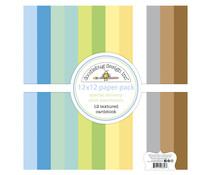 Doodlebug Design Special Delivery 12x12 Inch Textured Cardstock Paper Pack (6856)